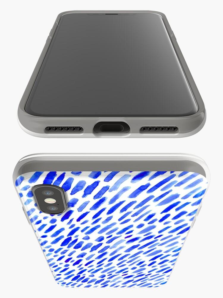 Alternative Ansicht von Aquarell blaue Pinselstriche iPhone-Hüllen & Cover