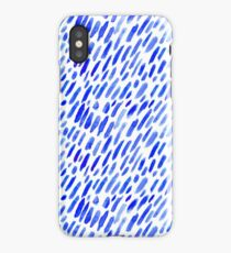 Watercolor blue brush strokes iPhone Case/Skin