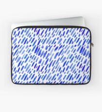 Aquarell blaue Pinselstriche Laptoptasche