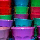 Plastic Coloured Cups by arc1