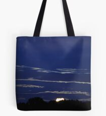 Sunset And Moon Glow Tote Bag