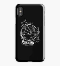 Stop The World - White Line Small iPhone Case/Skin