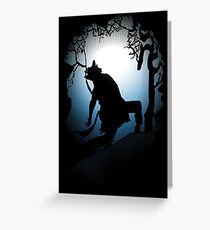 Howling Into The Woods Greeting Card