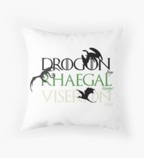 The Dragons Throw Pillow