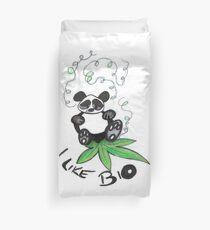 I Like Bio Panda Ganja Weed Vegan Art  Duvet Cover