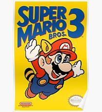 Super Mario Bros. 3 neu gefärbt Poster