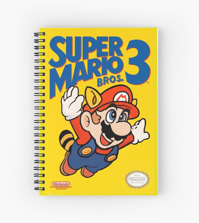 Cuadernos de espiral «Super Mario Bros. 3 Re-Colored» de Super Fly ...
