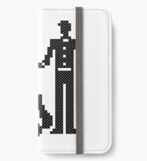 SILHOUETTES OF ELEGANT BRIDE AND GROOM CROSS-STITCH DESIGN iPhone Wallet/Case/Skin