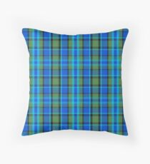 Westy Tartan Blue | Bulli Boys Throw Pillow