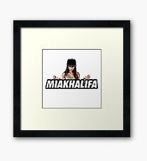 MIA KHALIFA Framed Print