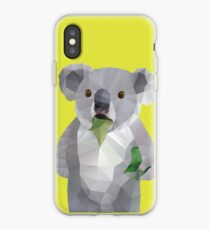 Koala with Koalafication Polygon Art iPhone Case
