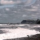 Whitby from Sandsend Beach by Angela Harburn