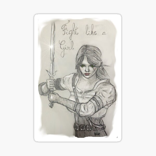 Cirilla, fight like a girl Sticker