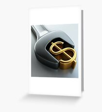 Make Money! the first million is hard Greeting Card