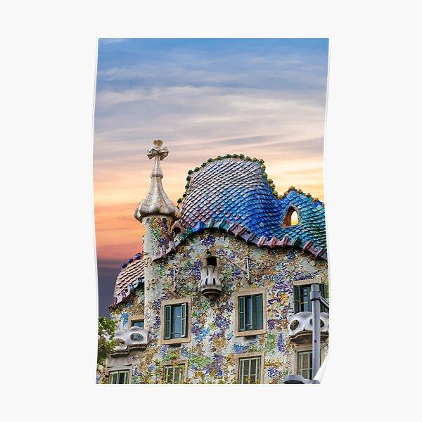 Gaudi Facade Poster