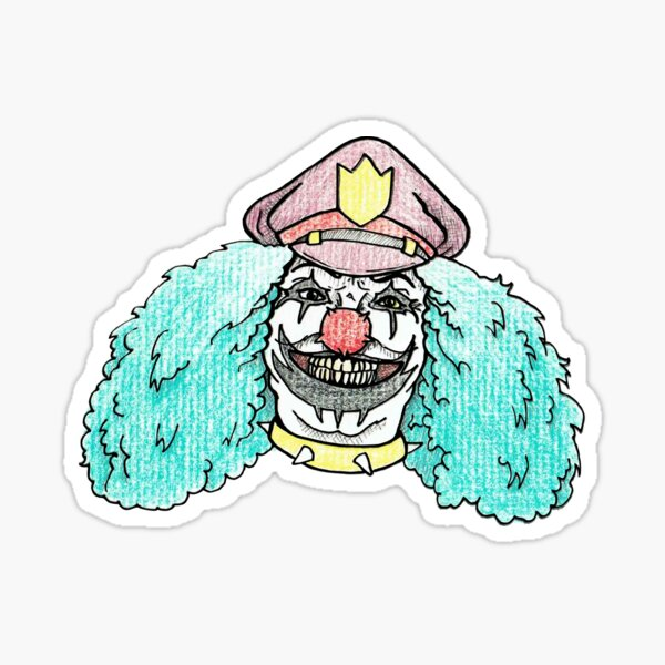 Dr. Rockso, the Rock and Roll Clown! Sticker