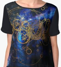 Time Lord Writing (blue) Women's Chiffon Top