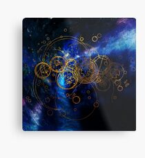 Time Lord Writing (blue) Metal Print