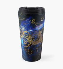 Time Lord Writing (blue) Travel Mug