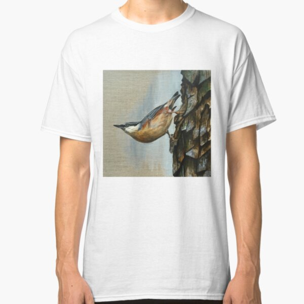 Nuthatch just hanging around Classic T-Shirt