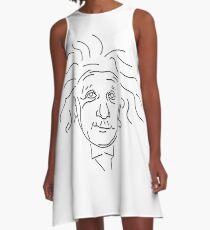Vestido acampanado Drawn Albert Einstein Line Art