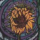 Batik Sunflower by MotiBlack