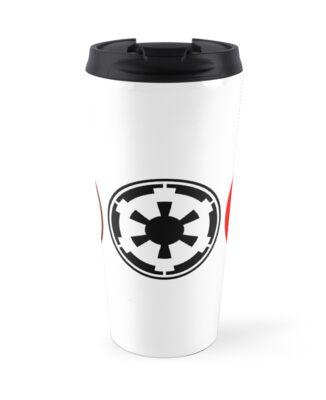 Star Wars Rebel Jedi And Empire Symbols Travel Mugs By