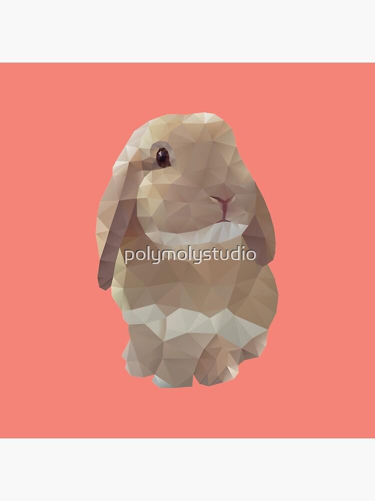 Peanut Bunny the Rabbit Polygon Art by polymolystudio