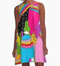 Night Sky Rainbow A-Line Dress