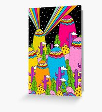 Night Sky Rainbow Greeting Card