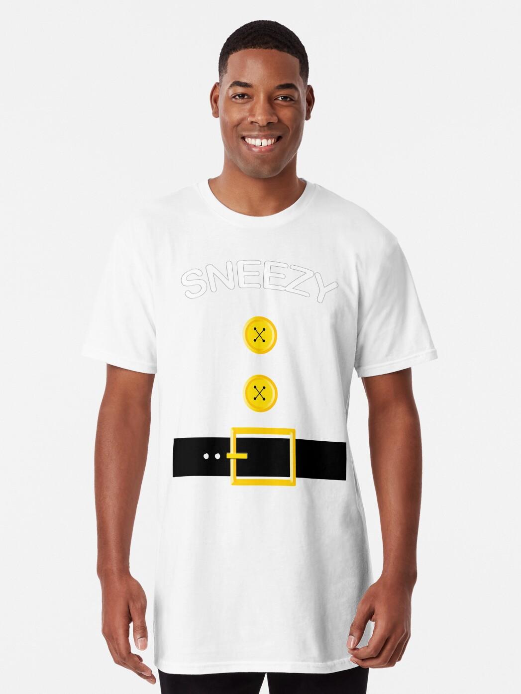 ccfa7a1cd8d Snow White Sneezy 7 Dwarfs Halloween Thanksgiving Group Costume Shirt Long  T-Shirt Front