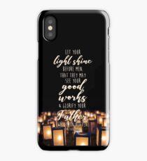 Matthew 5:16 iPhone Case/Skin