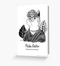 #meowdernart - Frida Catlo Greeting Card