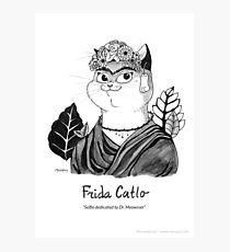 #meowdernart - Frida Catlo Photographic Print