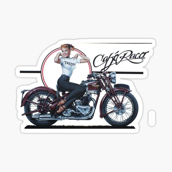 Triumph Cafe Racer Girl Sticker
