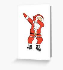 Dabbing Santa Ugly Christmas Sweatshirt  Greeting Card