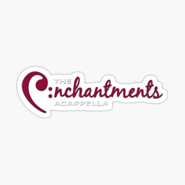 Enchantments Logo Maroon and White Sticker