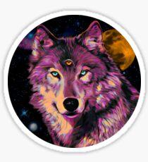 Aware Wolf Sticker