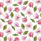 Blooming magnolia by Mesori