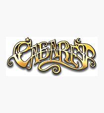 CABARET - Tittle lettering Photographic Print