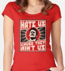 Hate us! Women's Fitted Scoop T-Shirt