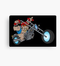 Motorbike Dog Canvas Print