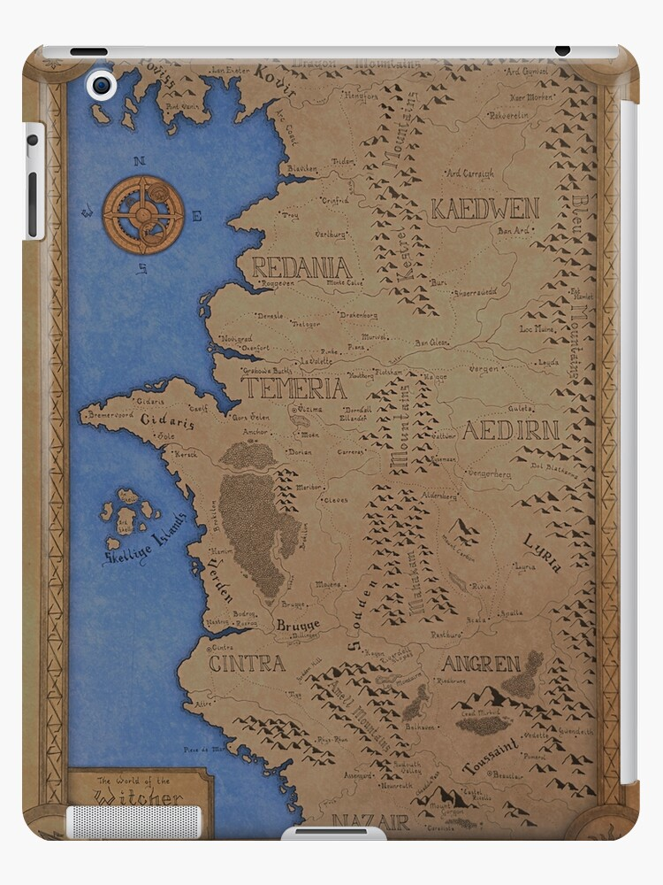 The witcher world map colored ipad cases skins by dvg94 redbubble the witcher world map colored by dvg94 gumiabroncs Image collections
