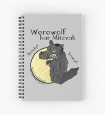 Werewolf Bar Mitzvah Spiral Notebook