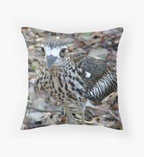 Bush Stone-Curlew (Burhinus grallarius) Wild  Throw Pillow