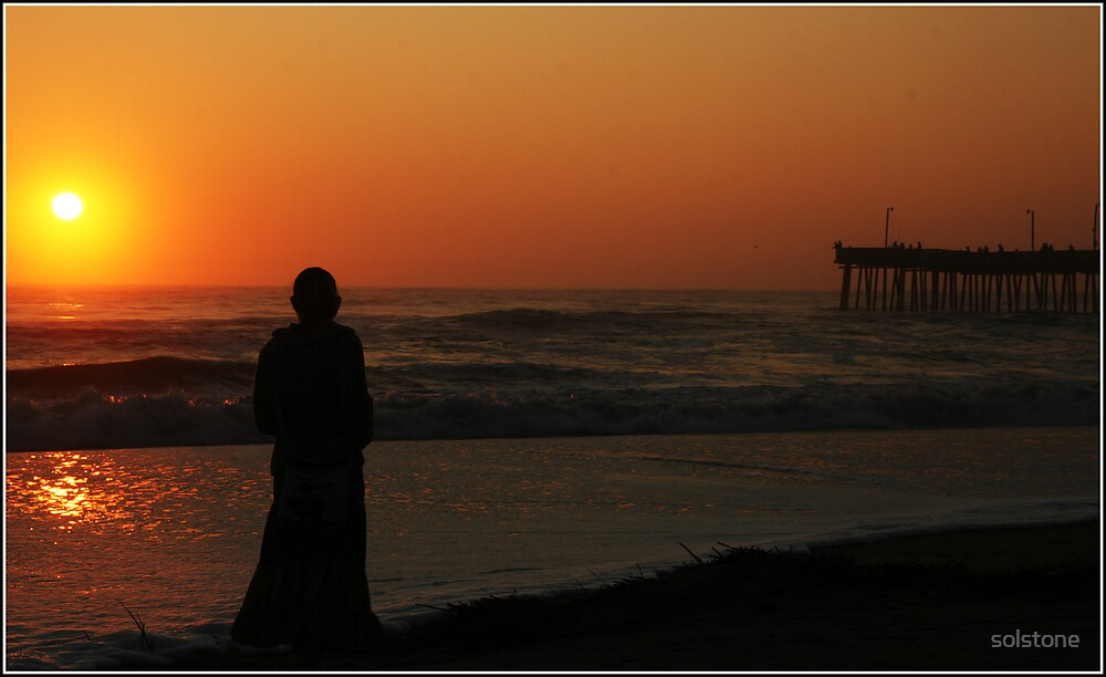 Jude in an orange sunrise by solstone