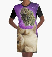 Space kitten  Graphic T-Shirt Dress