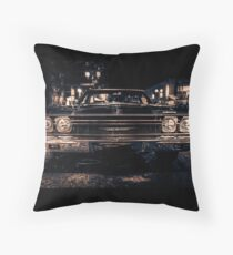 Classic American Cars Throw Pillow
