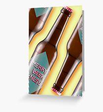Merry Beer ness! Greetings card. - Yolk Yellow Greeting Card
