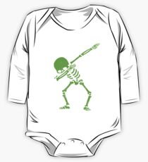 Dabbing Skeleton Green One Piece - Long Sleeve